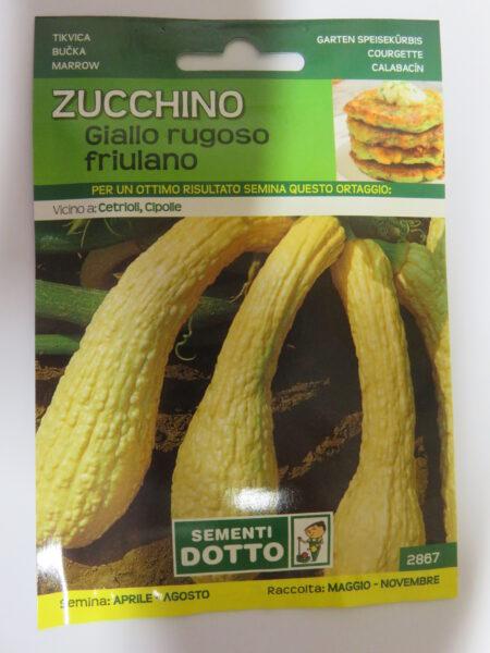 Zucchino giallo rugoso friulano