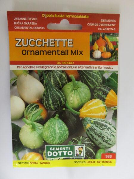 Zucchette ornamentali – mix